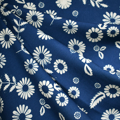 Golden Hour Daisy Floral Rayon Bluebell