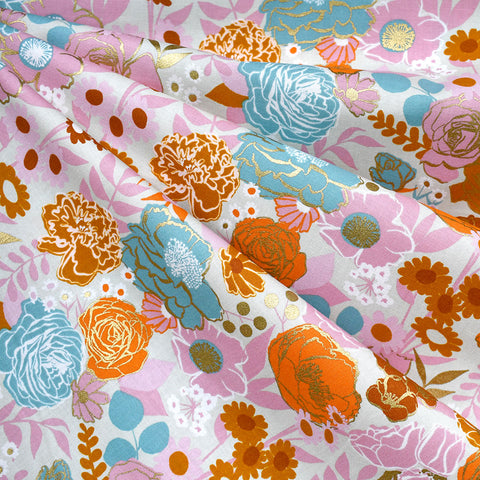 Rise Metallic Grow Garden Floral Cotton Shell