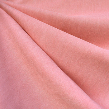 Soft Washed Tencel Twill Solid Coral—Preorder