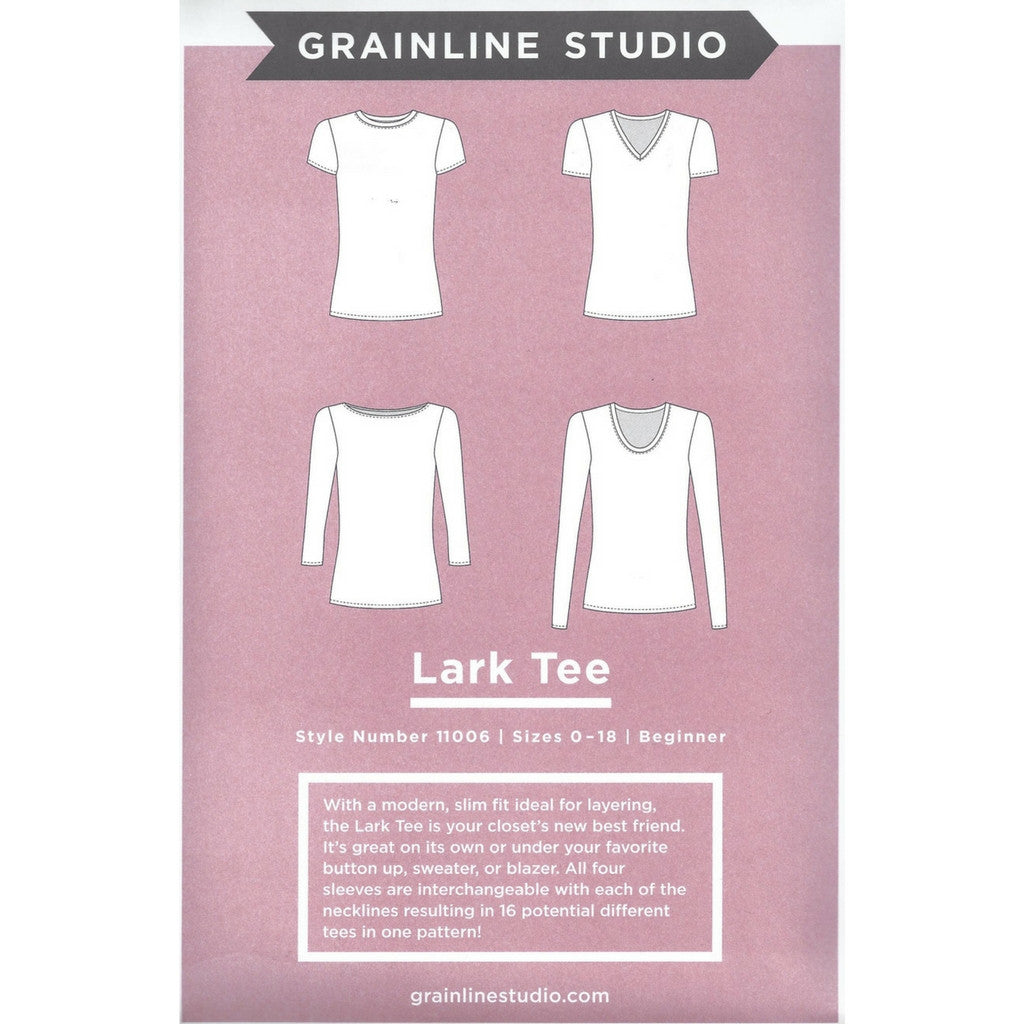 Grainline Studio Lark Tee - Patterns - Style Maker Fabrics
