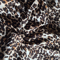 Animal Print Cotton Sateen Brown/Natural - Sold Out - Style Maker Fabrics