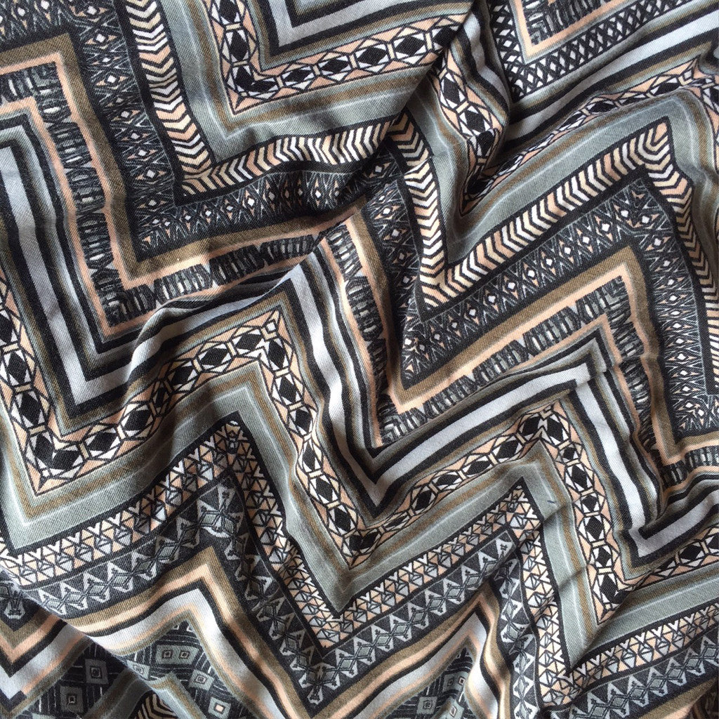 Jersey Knit Chevron Naturals - Sold Out - Style Maker Fabrics