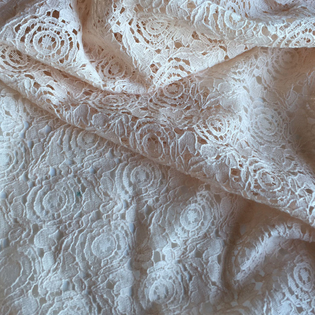 Medallion Lace Blush - Sold Out - Style Maker Fabrics