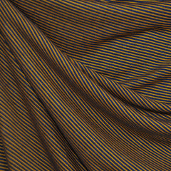 Jersey Knit Micro Stripe Navy/Goldenrod - Sold Out - Style Maker Fabrics