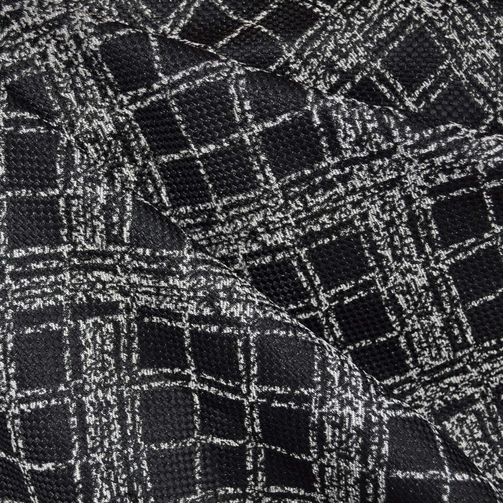 Bias Plaid Brocade Black - Sold Out - Style Maker Fabrics