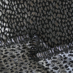 Animal Print Brocade Black/Silver - Selvage Yard - Style Maker Fabrics