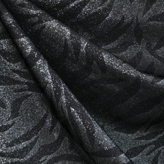Metallic Tiger Print Ponte Knit Black/Silver - Selvage Yard - Style Maker Fabrics