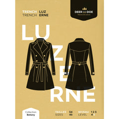 Deer and Doe Patterns Luzerne Trench Coat - Patterns - Style Maker Fabrics