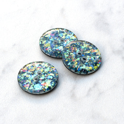 Iridescent Glitter Button - Large