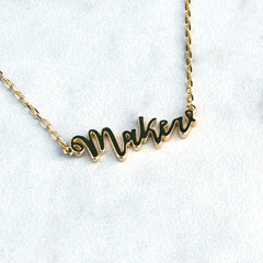 Maker Script Necklace - Gifts - Style Maker Fabrics