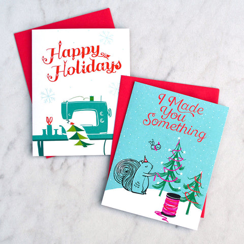 Crafted Moon Holiday Greeting Card