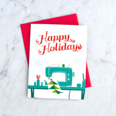 Crafted Moon Holiday Greeting Card - Gifts - Style Maker Fabrics