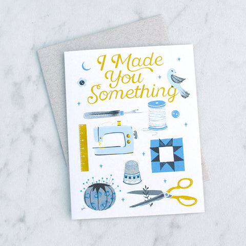 Crafted Moon Greeting Card