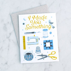 Crafted Moon Greeting Card - Gifts - Style Maker Fabrics