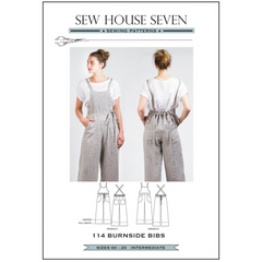 Sew House Seven Patterns Burnside Bibs - Patterns - Style Maker Fabrics