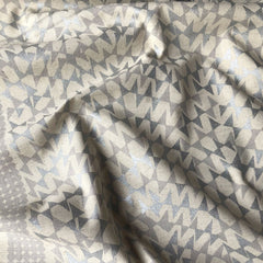 Japanese Metallic Triangle Geometric Linen Canvas Silver - Sold Out - Style Maker Fabrics