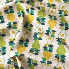 Japanese Pear Vine Linen Canvas Natural - Sold Out - Style Maker Fabrics