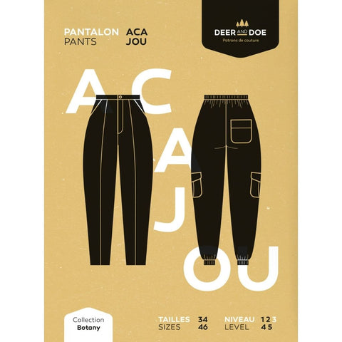 Deer and Doe Patterns Acajou Pants