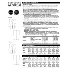 Thread Theory Men's Belvedere Waistcoat - Patterns - Style Maker Fabrics