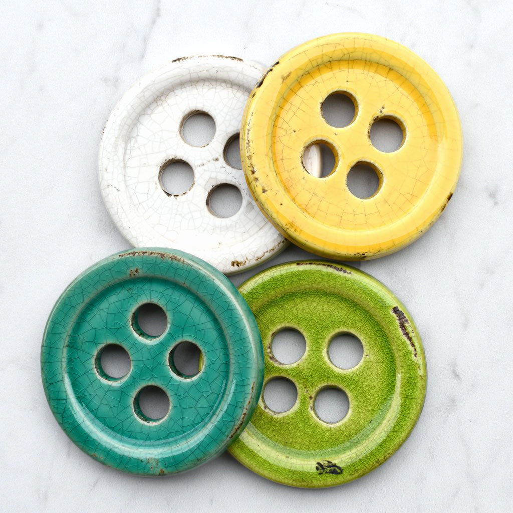 Ceramic Button Pattern Weight Set - Notions - Style Maker Fabrics