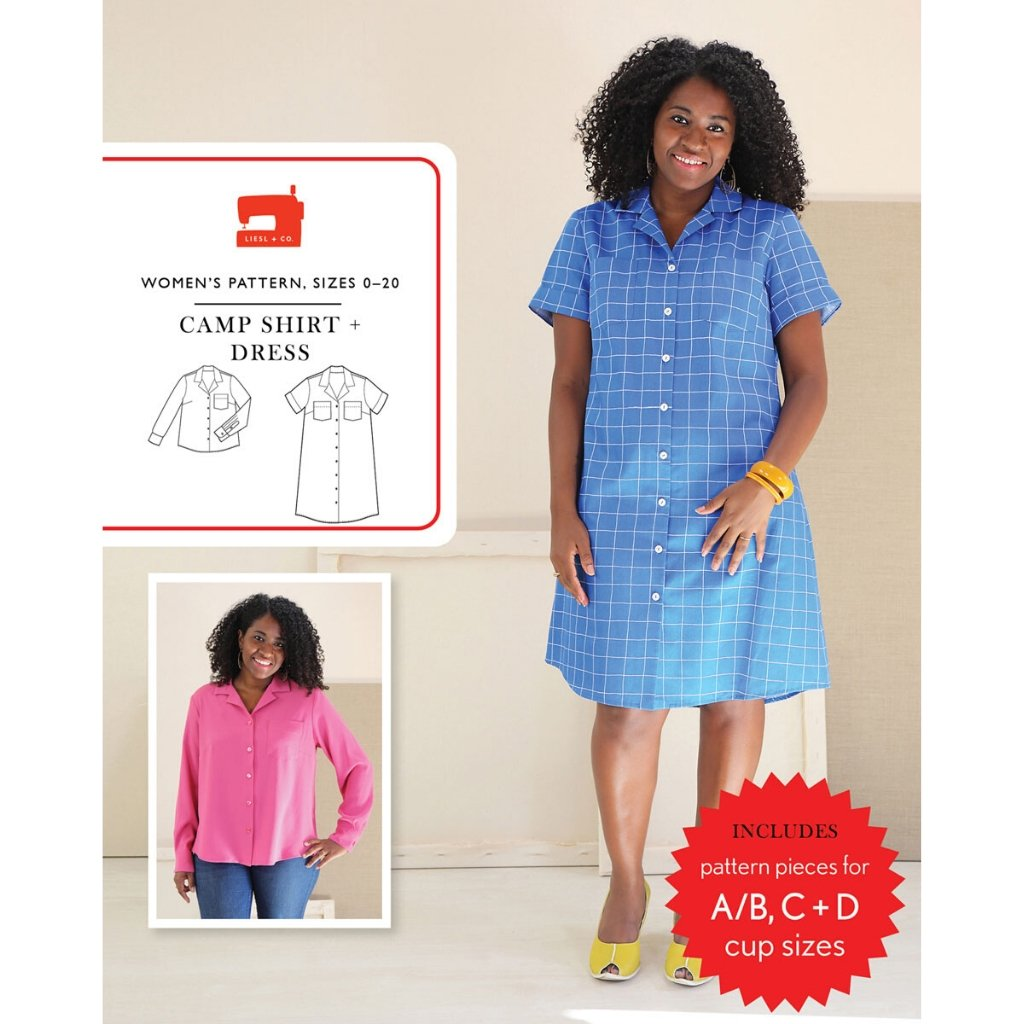 Liesl + Co. Camp Shirt + Dress - Patterns - Style Maker Fabrics