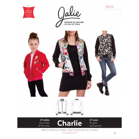 Jalie Sewing Patterns Charlie Bomber Jacket