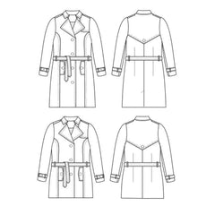 Cashmerette Sewing Patterns Chilton Trench Coat - Patterns - Style Maker Fabrics