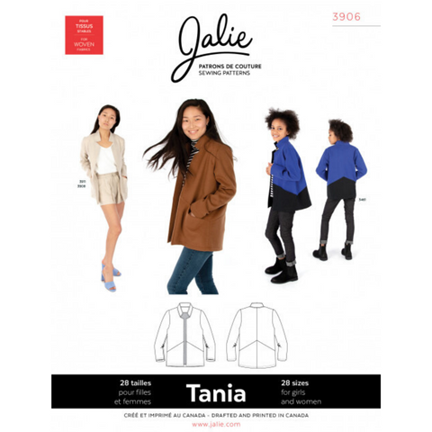 Jalie Sewing Patterns Tania Coatigan
