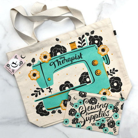 Crafted Moon Sewing Supplies Totes