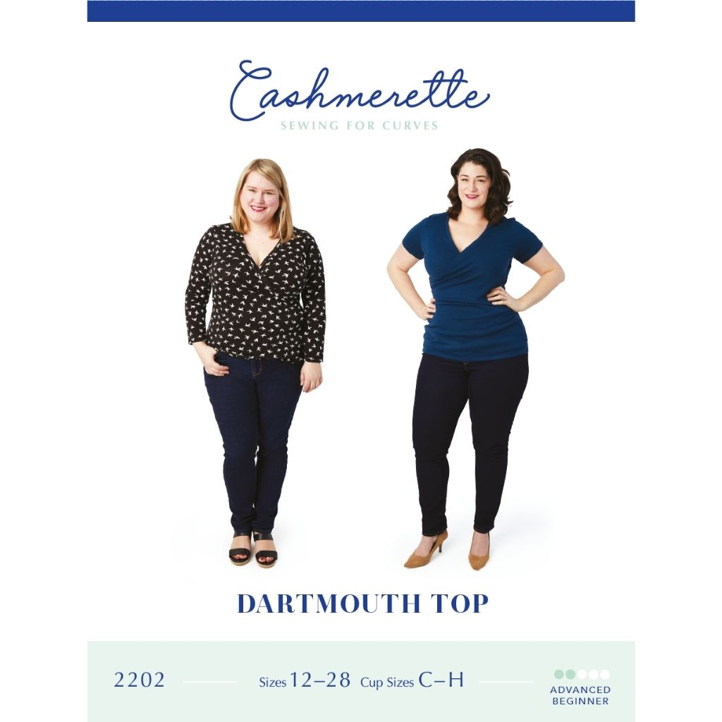 Cashmerette Sewing Patterns Dartmouth Top - Patterns - Style Maker Fabrics