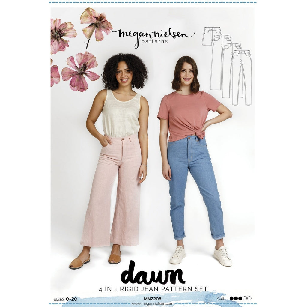 Megan Nielsen Patterns Dawn Jeans - Patterns - Style Maker Fabrics