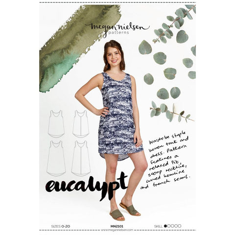 Megan Nielsen Patterns Eucalypt Tank & Dress