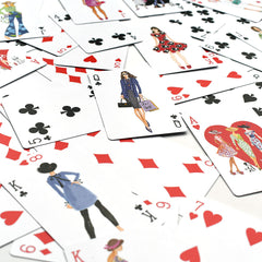 Classic Fashion Illustration Playing Cards - Gifts - Style Maker Fabrics