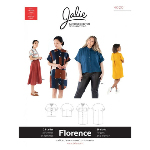 Jalie Sewing Patterns Florence Shirt and Shirtdress