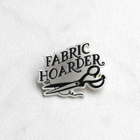Fabric Hoarder Enamel Pin