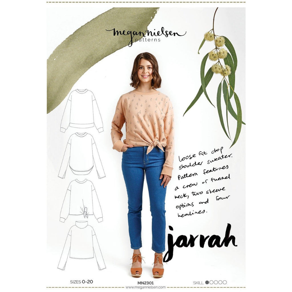 Megan Nielsen Patterns Jarrah Sweater - Patterns - Style Maker Fabrics