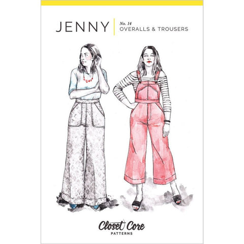 Closet Core Patterns Jenny Trousers and Overalls