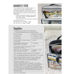 Noodlehead Maker's Tote - Patterns - Style Maker Fabrics