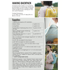 Noodlehead Making Backpack - Patterns - Style Maker Fabrics