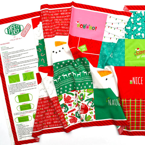 Holiday Edition Cotton Face Mask Panel