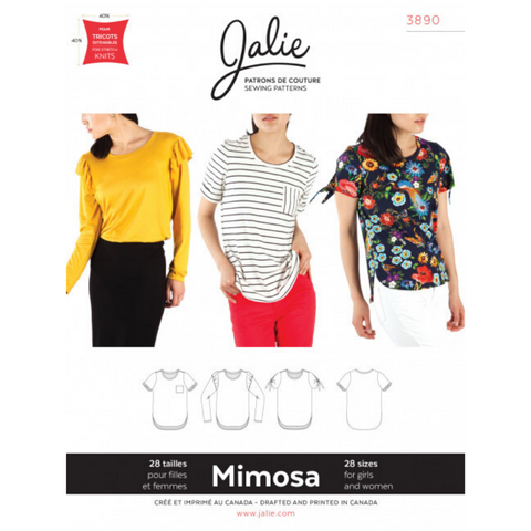 Jalie Sewing Patterns Mimosa Scoopneck T-Shirts
