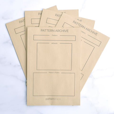Pattern Archive Storage Envelopes - Set of 5