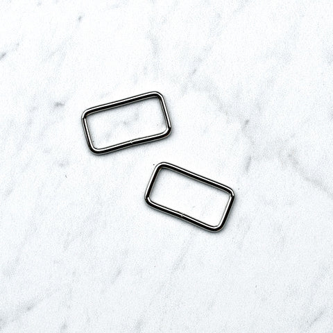 Metal Rectangle Rings - Set of 2