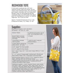 Noodlehead Redwood Tote - Patterns - Style Maker Fabrics
