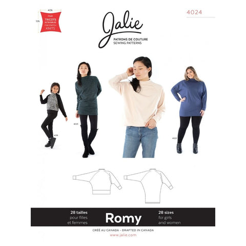 Jalie Sewing Patterns Romy Sweater and Tunic