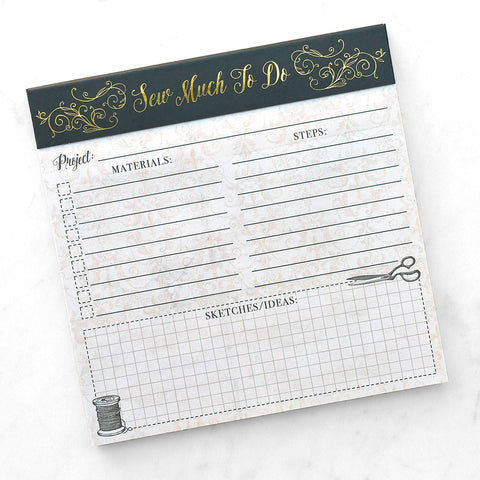 Sew Much To Do Project Notepad