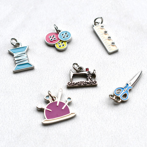 Enamel Sewing Charms - Set of 6
