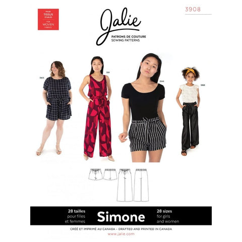 Jalie Sewing Patterns Simone Wide-Leg Shorts and Pants