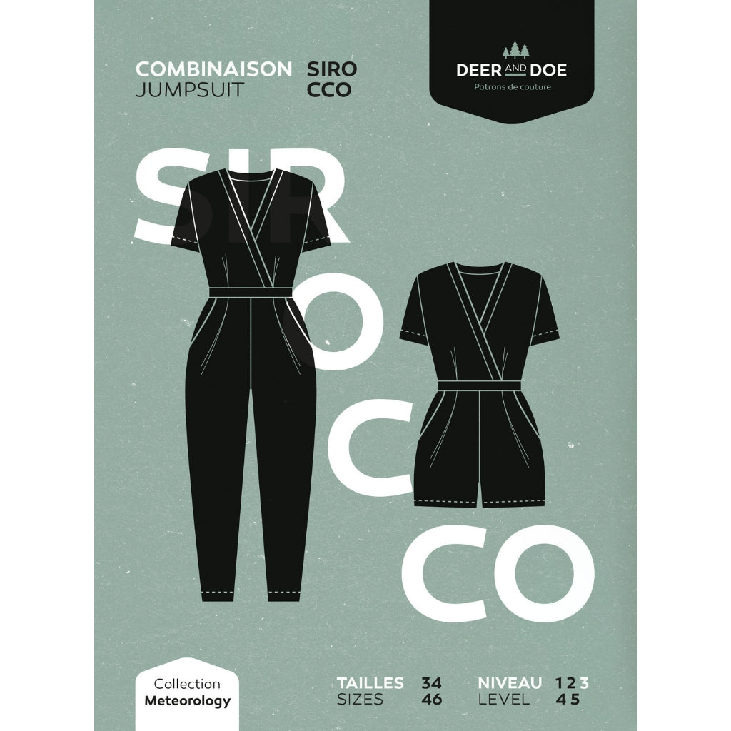 Deer and Doe Patterns Sirocco Jumpsuit - Patterns - Style Maker Fabrics