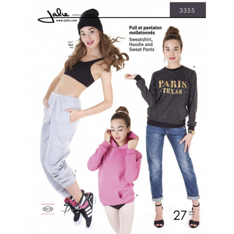 Jalie Sewing Patterns Sweatshirt, Hoodie and Sweat Pants